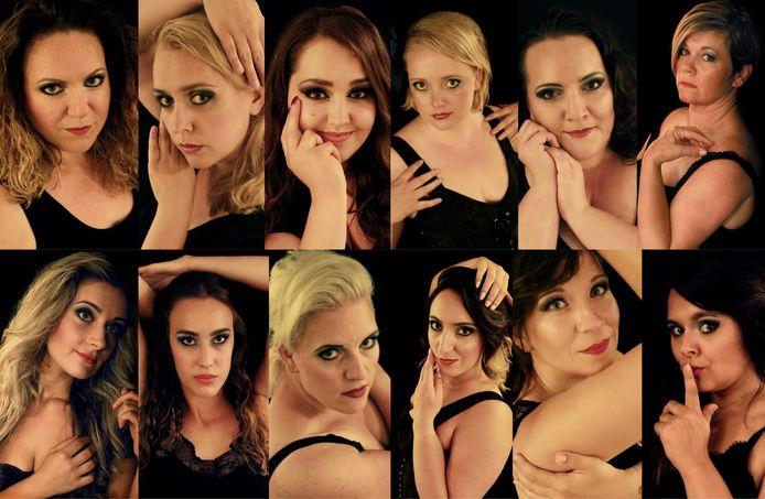 Twaalf dames, die elk voor een teken uit de dierenriem staan, in de thriller Het Staat in de Sterren.