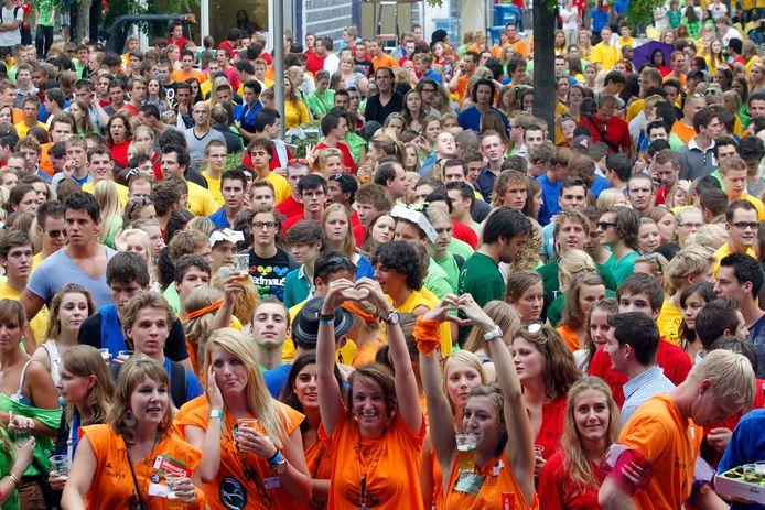 Massaal meefeesten is er voor de eerstejaars van Fontys in 2020 niet meer bij.