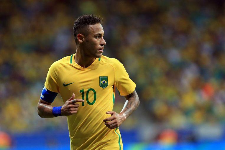 De Braziliaanse voetballer Neymar. Beeld null