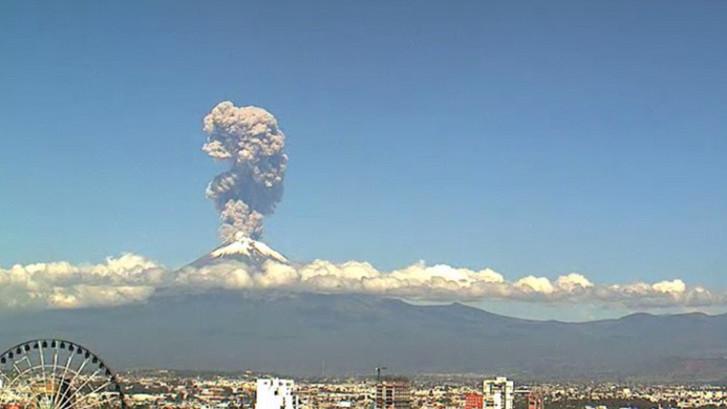 Imposante timelapse van vuurspuwende supervulkaan Popo