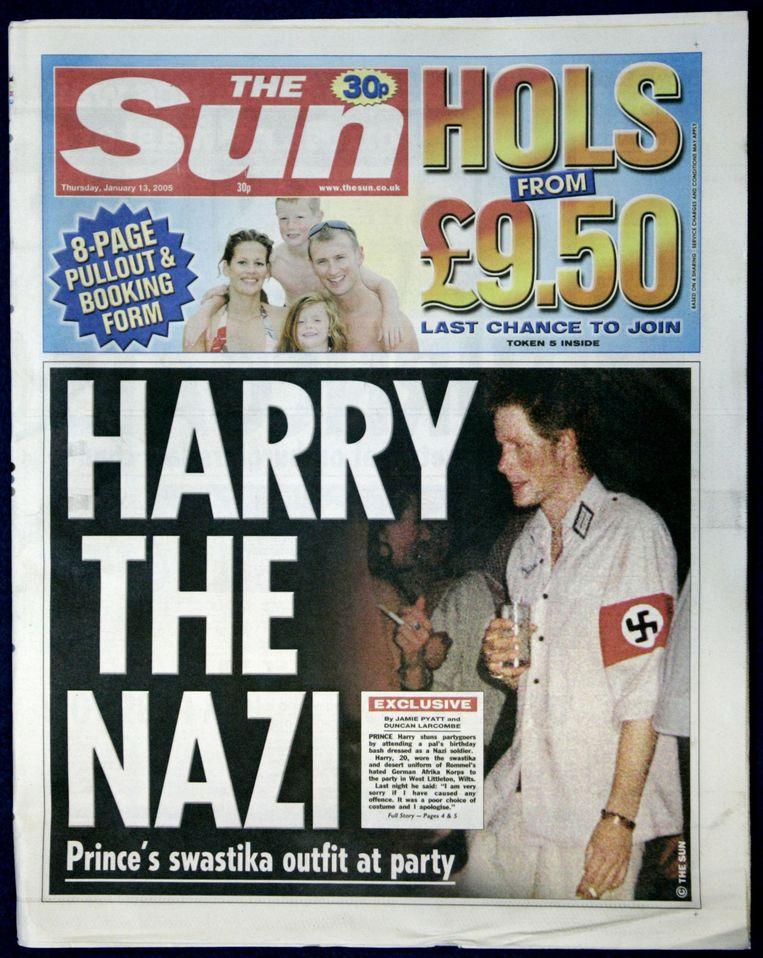 In 2005 haalde Harry de voorpagina's toen hij op een verkleedfeestje was verschenen in nazi-uniform.