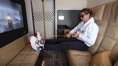 Vlogger Casey Neistat neemt duurste vlucht ter wereld: voor 38.000 dollar van Abu Dhabi naar New York in een driekamercabine