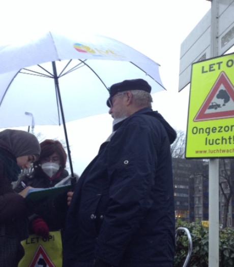 'Verkeersbord' tegen ongezonde lucht, Milieudefensie gaat in Den Bosch jaar lang de 'strijd aan'