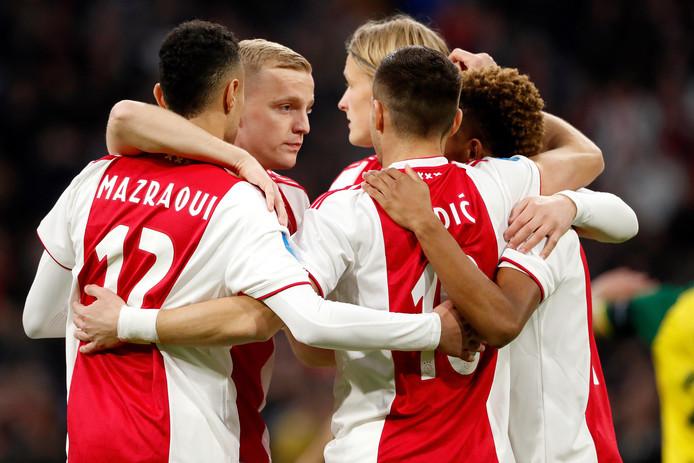 Ajax is met 4-0 veel te sterk voor Fortuna Sittard.