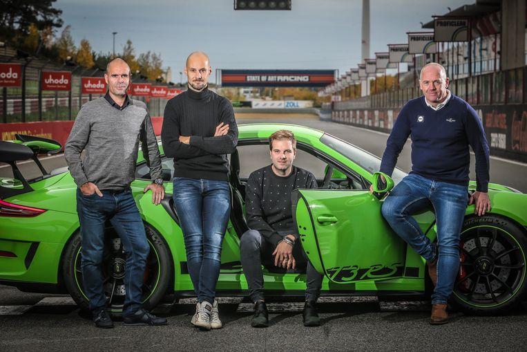 Van Petegem, Boonen, Albert en Steels.