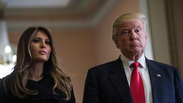 Donald Trump en zijn vrouw Melania. Beeld afp