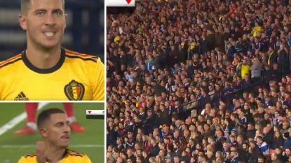 Ronaldo, Ronaldinho en...De Bruyne achterna: Eden Hazard krijgt zelfs applaus van Schotse fans bij wissel
