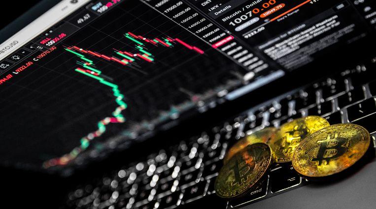 De cryptovaluta Bitcoin. Veel mensen zien de digitale munt als investering terwijl economen waarschuwen voor een bubbel.  Beeld ANP XTRA