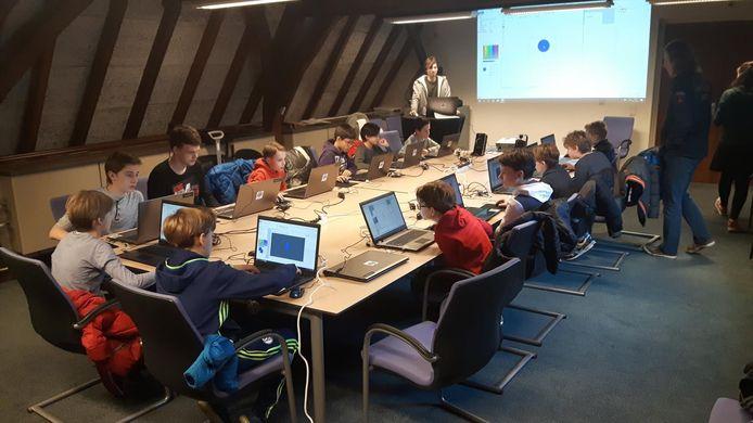 Aan de workshop deden dertien kinderen mee.