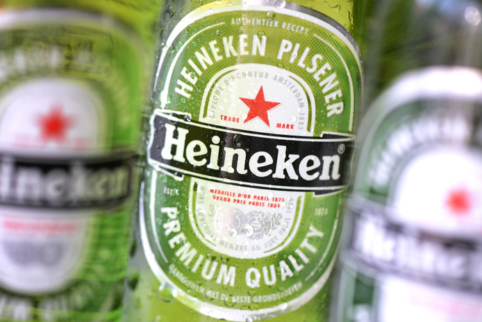 Flesjes Heineken bier.