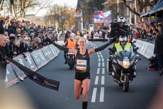 Finish van Susan Krumins in 2018.