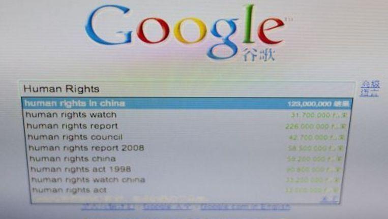 De website van Google in China. ANP Beeld