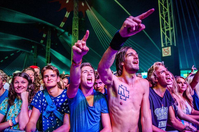 Festivalgangers op Lowlands. Beeld anp