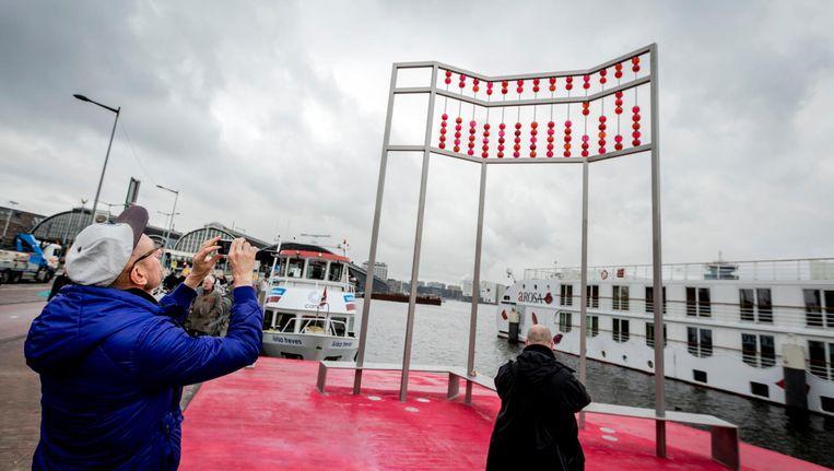 Vorige week nog werd, mede met het Aids Fonds, een monument voor slachtoffers van de ziekte in Amsterdam onthuld. Beeld ANP
