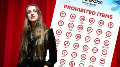 """""""Waarom zou iemand een winkelwagen of ladder meenemen?"""": lange lijst van verboden items op Eurovisiesongfestival zorgt voor hilariteit"""