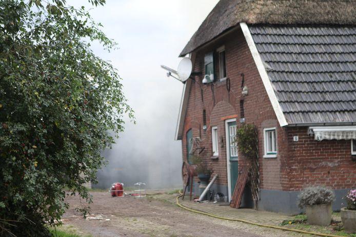 Bij de brand in Bennekom is veel rook vrijgekomen.