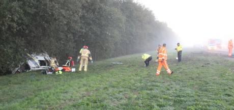 Drie gewonden bij ernstig ongeval op A1 bij Rijssen