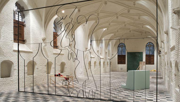 Tentoonstelling En Rachâchant in Vleeshal Middelburg van Ola Vasiljeva (tot 13 december). Beeld