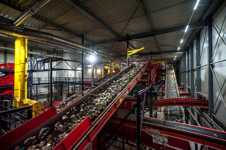 Afvalscheidingsinstallaties worden steeds beter in het oppikken van plastic, beter dan mensen. Beeld Hollandse Hoogte