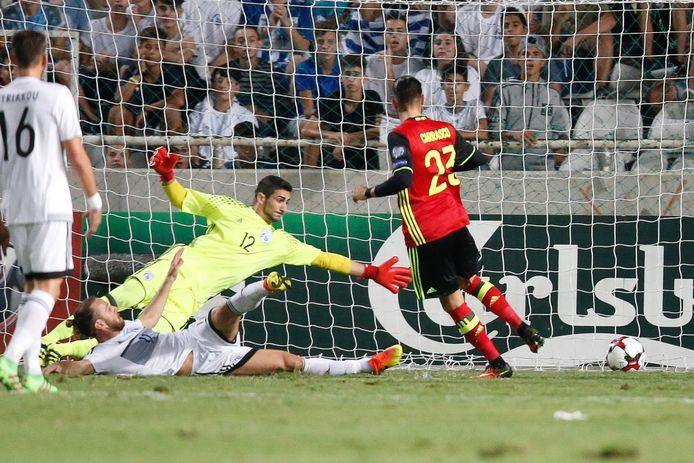 81': op assist van Hazard werkt Carrasco de 0-3 binnen.