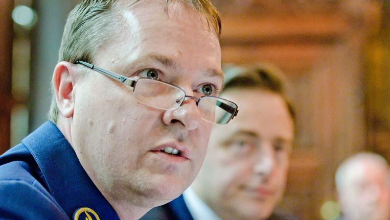 Antwerps korpschef Serge Muyters en burgemeester Bart De Wever.