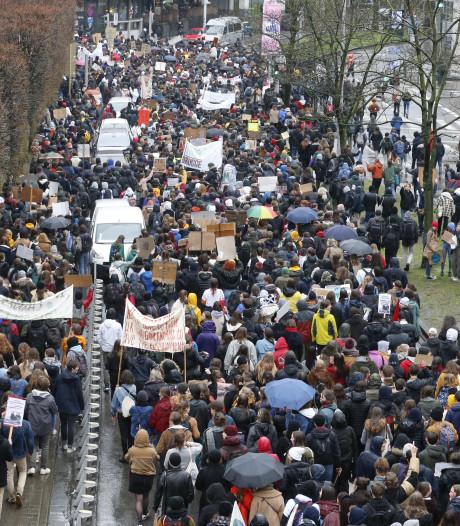 Belgische scholieren spijbelen vandaag massaal voor het klimaat