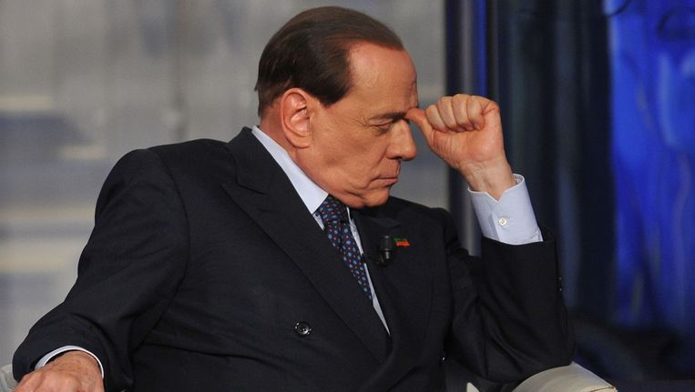 De voormalige Italiaanse premier Silvio Berlusconi. Beeld afp