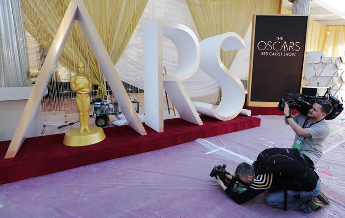 De voorbereidingen voor de uitreiking van de Oscars zijn in volle gang.