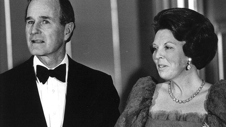 Bush bezocht in 1983, toen als vice-president, Nederland. Beeld anp