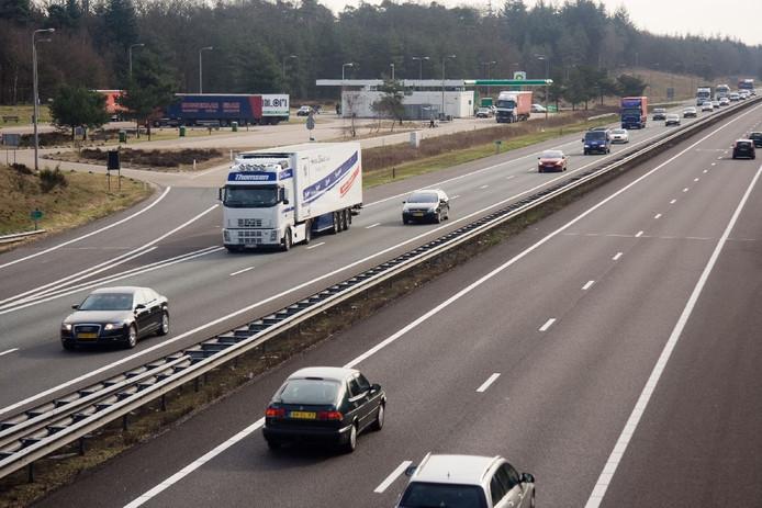 De A1 bij Apeldoorn.