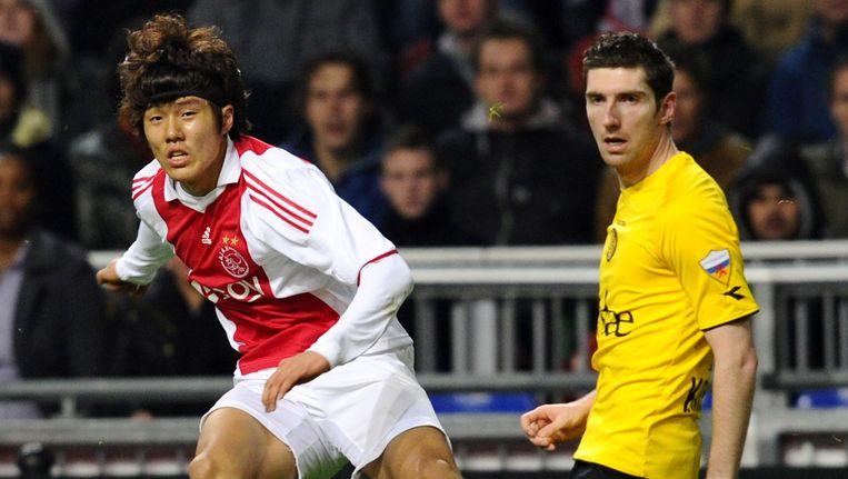 Hyun-Jun Suk maakte in 2010 zijn debuut bij Ajax. Hij zou uiteindelijk drie officiële duels spelen in het roodwit van de Amsterdammers Beeld anp