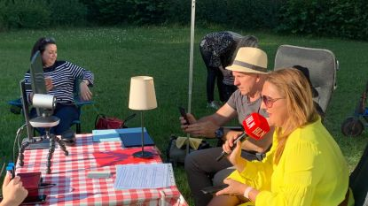 Burgemeester Gwendolyn Rutten presenteert de Camperquiz mee met bedenker Stefaan in zijn thuishaven Aarschot
