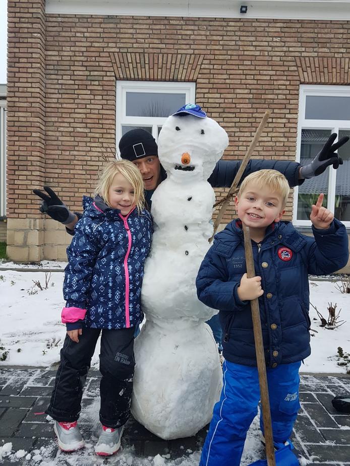 Sneeuwpret in Escharen