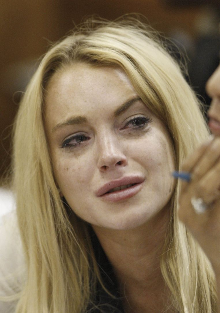 Lindsay Lohan nadat ze is veroordeeld tot 90 dagen celstraf, 2010. Beeld Sunshine