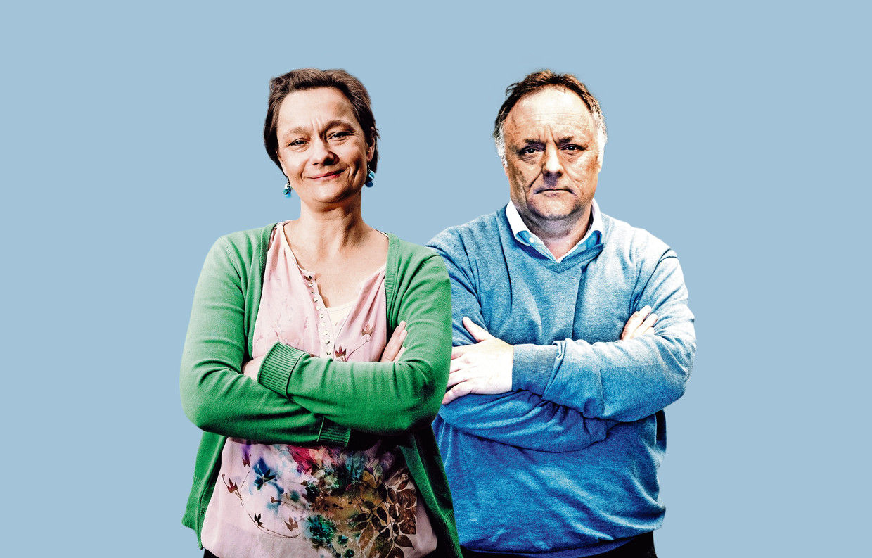 Erika Vlieghe en Marc Van Ranst.