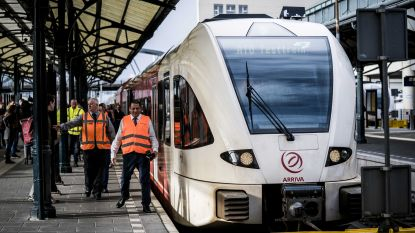 Eerste zelfrijdende trein met passagiers in Europa reed vanochtend door Nederland