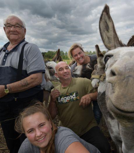 De vrolijke beestenboel van DonkeyPronkie en Opa 'ezeltje rijden' Dominic
