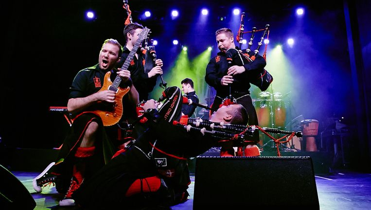 De popband Red Hot Chilli Pipers. Beeld