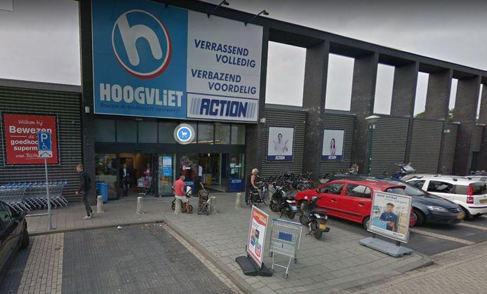 De vestiging van supermarkt Hoogvliet in Bilthoven.