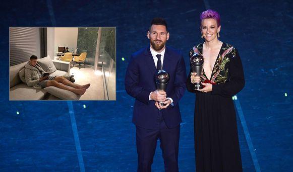 Lionel Messi en Megan Rapinoe gingen met de hoofdprijzen lopen, Cristiano Ronaldo bleef thuis.