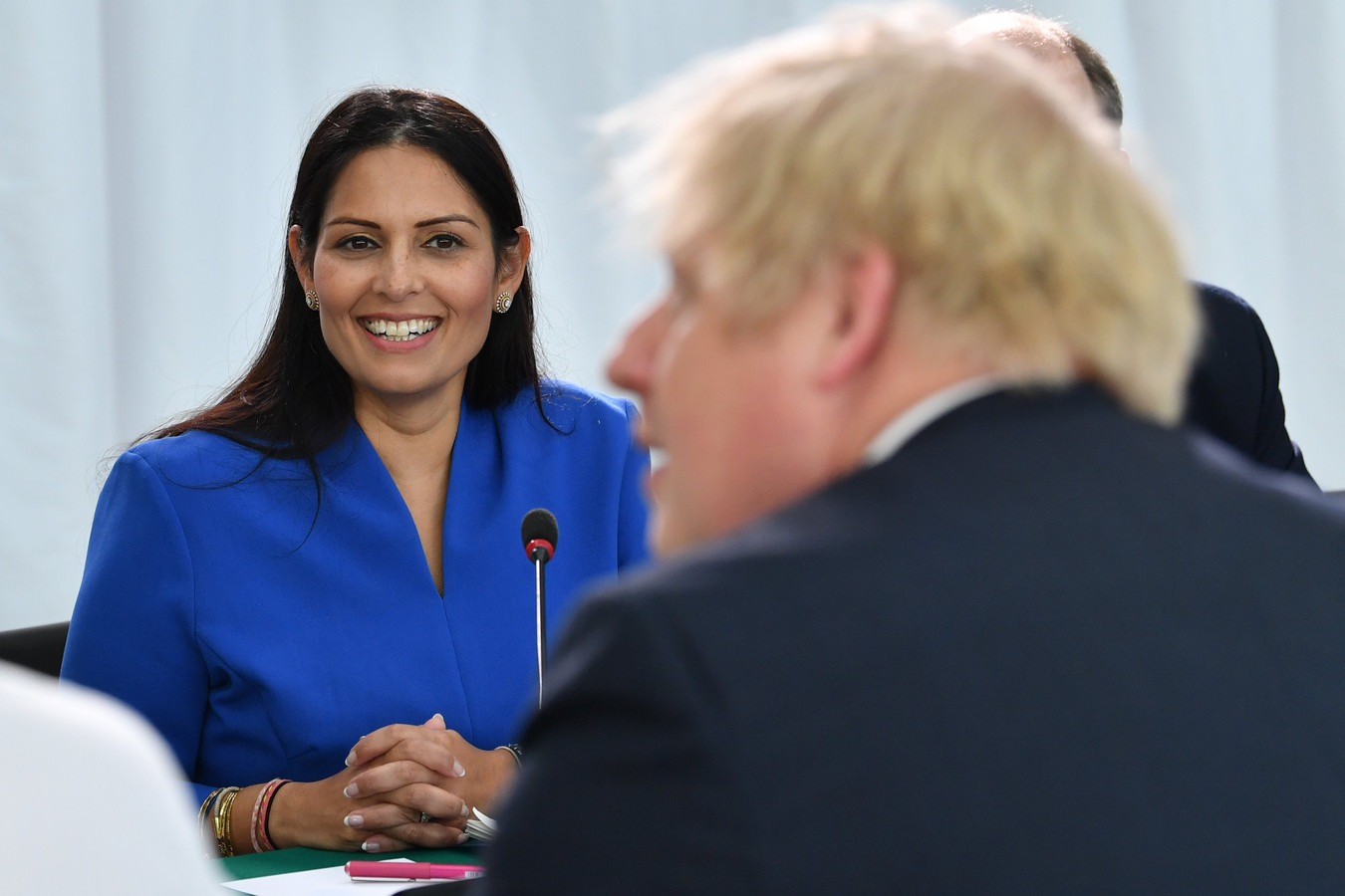 Priti Patel et Boris Johnson