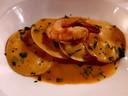 Ravioli met zeevruchten en kreeftensaus bij Raffaele's Foodbar in Deventer.