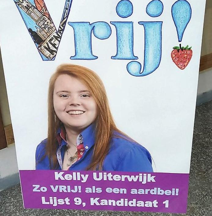 Kelly Uiterwijk is trots op de uitverkiezing.