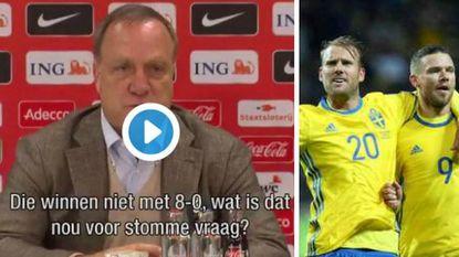 Hopeloos! Nadat Advocaat Luxemburg wel degelijk met 8-0 zag verliezen, heeft Oranje zege met 7 goals verschil nodig tegen Zweden