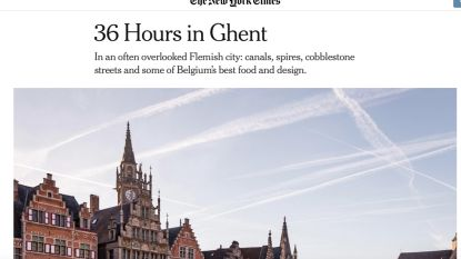 The New York Times lyrisch over Gent