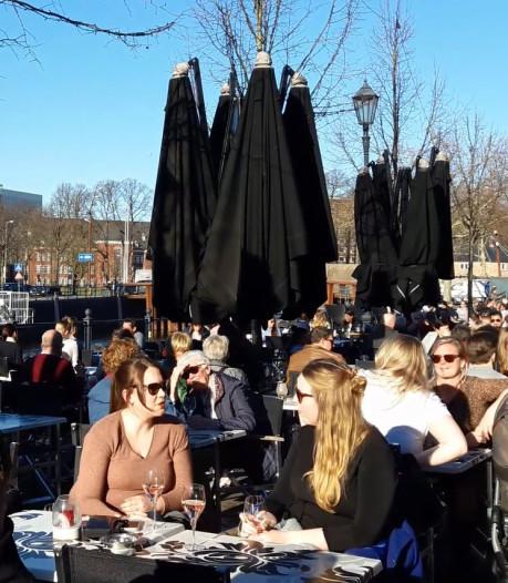 Breda 15 februari: volle terrassen en lekker koel bier
