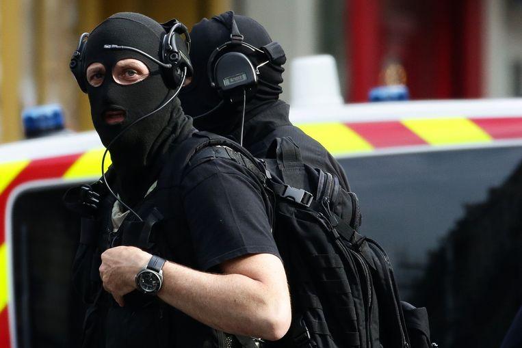 Archiefbeeld van leden van de speciale interventie-eenheid in Parijs