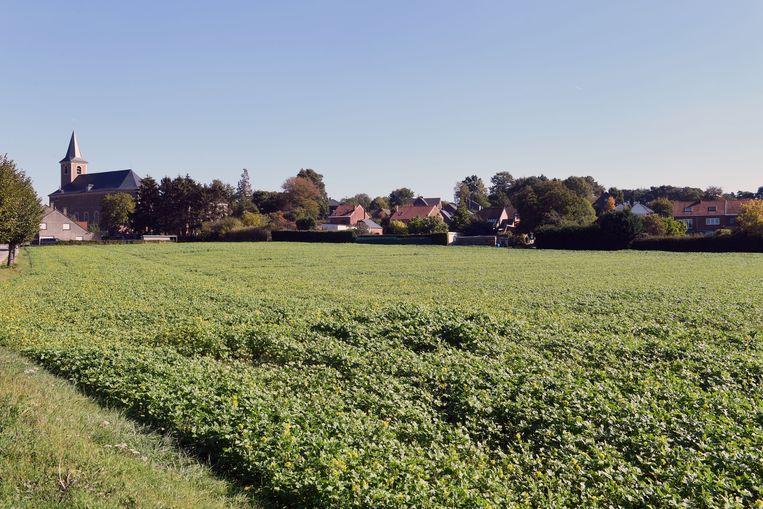 Het gebied waarop woonzorgcentrum De Kouter wordt gebouwd.