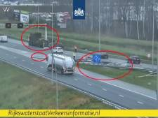 Vrachtwagen verliest lading op verbindingsweg van A2 bij Eindhoven naar A67 richting Antwerpen