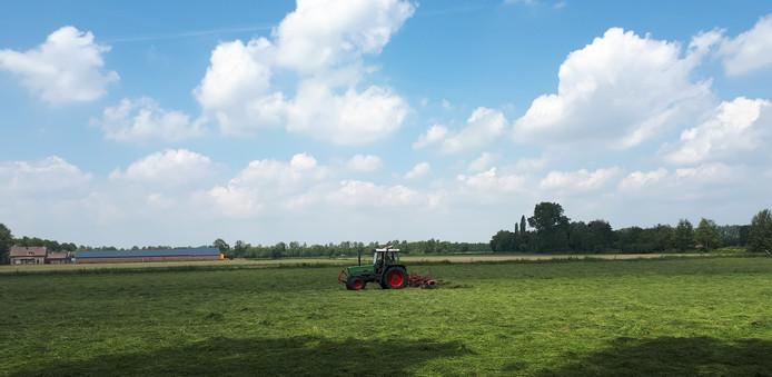 Het buitengebied tussen Heesch en Vinkel. Op de achtergrond het terrein waar bedrijventerrein Heesch West komt.